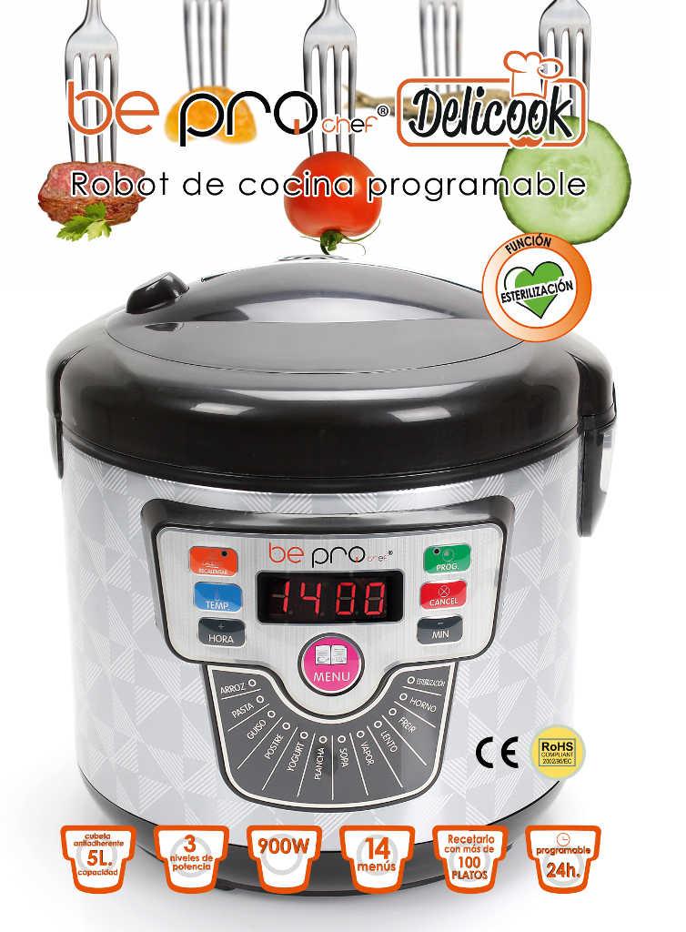 Hermoso robot de cocina chef o matic pro programable - Chef titanium con voz ...