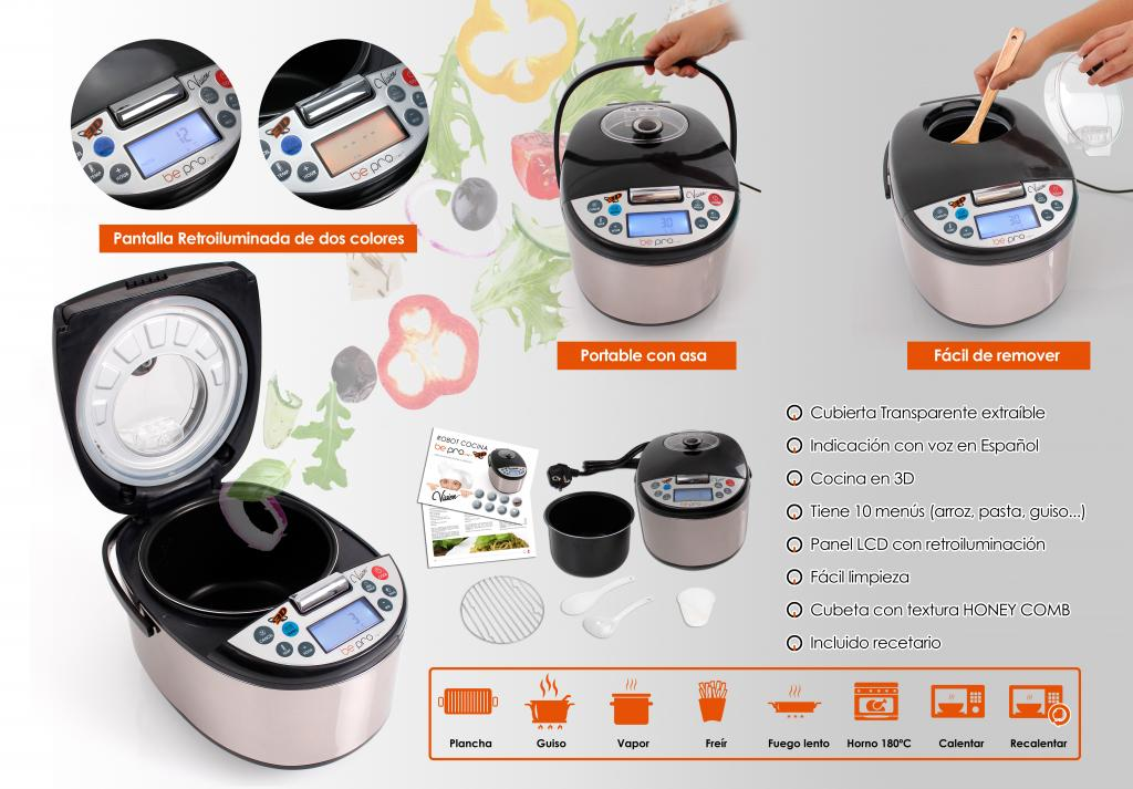 robot de cocina 12 menus 5 litros bepro chef vission