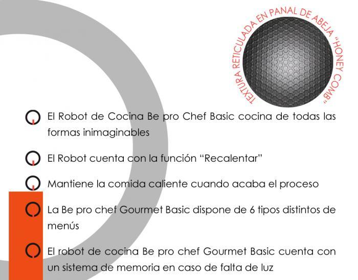 ROBOT COCINA BEPRO CHEF GOURMET BASIC