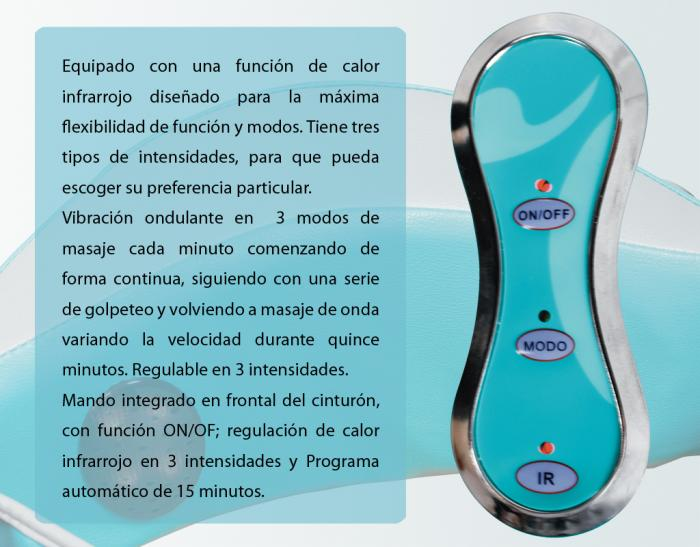 CINTURON DE MASAJE PROFESIONAL MASSAGE ENERGY
