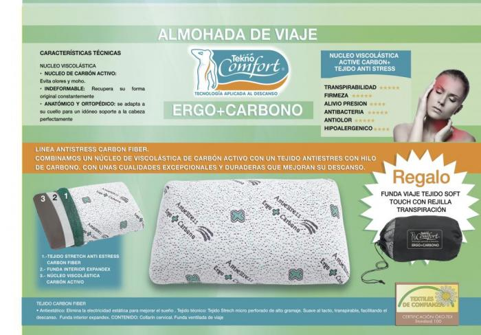 Almohada de viaje Ergoplus Carbono Tekno Confort