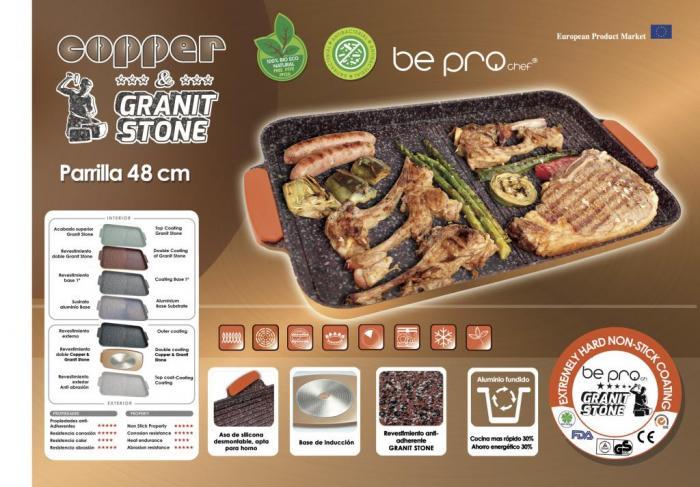 Parrilla XXL Bepro Chef Cooper&Granit Stone