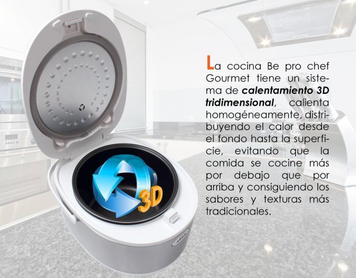 Robot cocina 12 menus 5 litros display lcd con voz bepro chef gourmet bekaexpres - Robot de cocina chef o matic pro ...