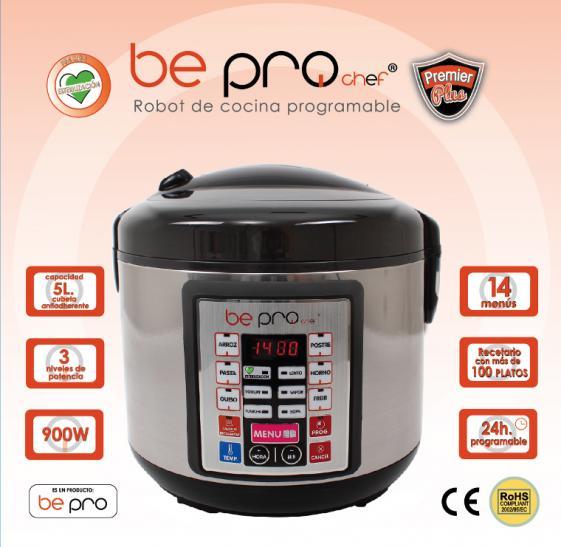 Robot de cocina 14 menus 5 litros bepro chef premier plus - Robot de cocina chef o matic pro programable ...